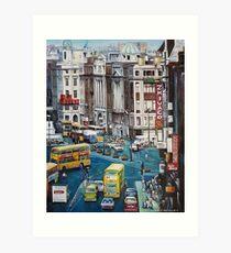 O'Connell Street DUBLIN 1980's Art Print