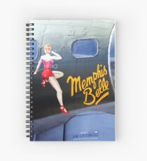 Memphis Belle Nose Art Spiral Notebook