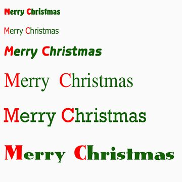 Holiday Greeting in Fonts by pearlguy
