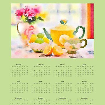 Calendar 2019 Tea Time by miniverdesigns