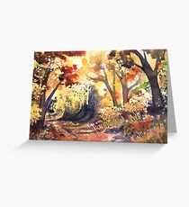 Autumn Forest - Watercolor Greeting Card