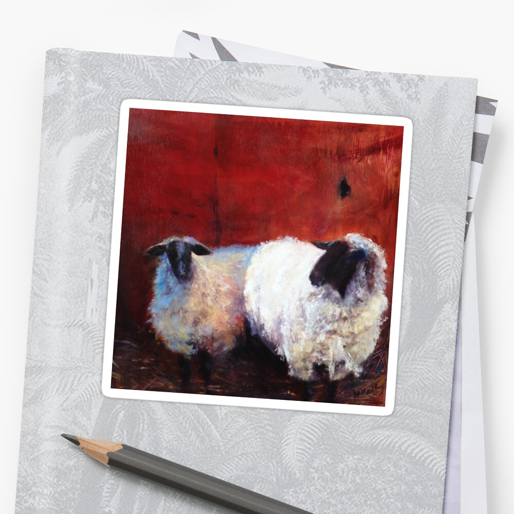 Frick And Frack Sheep From Original Oil Painting By Madeleine