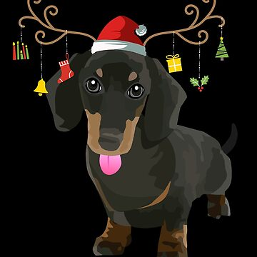 Dachshund Ugly Xmas Sweater Antler Doxie Dog Lover by JapaneseInkArt
