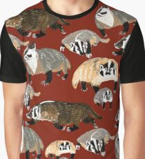 Western American Badger Graphic T-Shirt