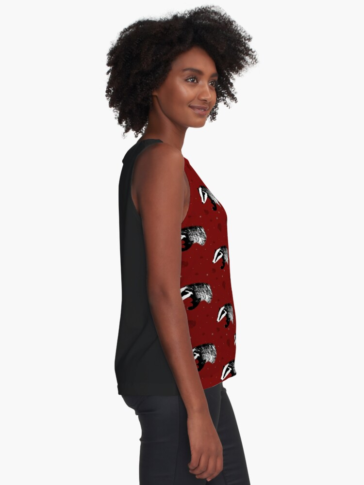 Alternate view of Badger print in red Sleeveless Top