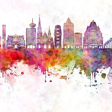 Vancouver V2 skyline watercolor background by paulrommer