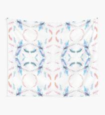 Watercolor Feathers Pattern Wall Tapestry