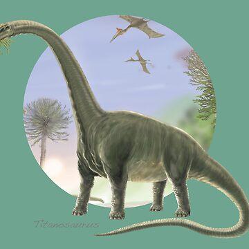 Titanosaurus (Circle Background) by lewisroland