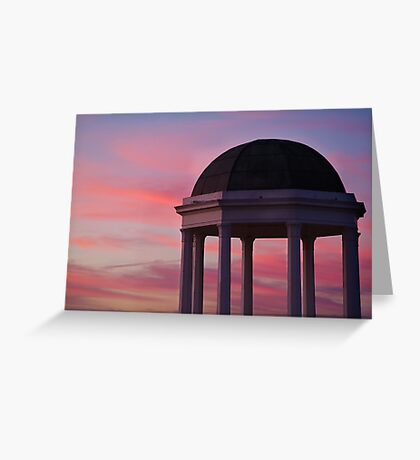 Stawell Lookout Pavilion,Dusk Greeting Card