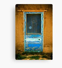 Taos Pueblo Screen Door Canvas Print