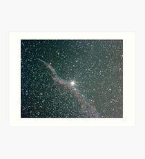 witches broom nebula NGC6960 Art Print