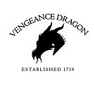 Vengeance Dragon Corner Crest (Dark on Light) by CaptainMaiola
