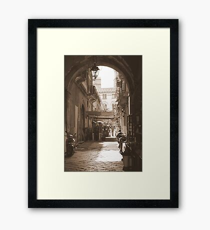 Arch & Stair Series - Through an archway I walked... Framed Print