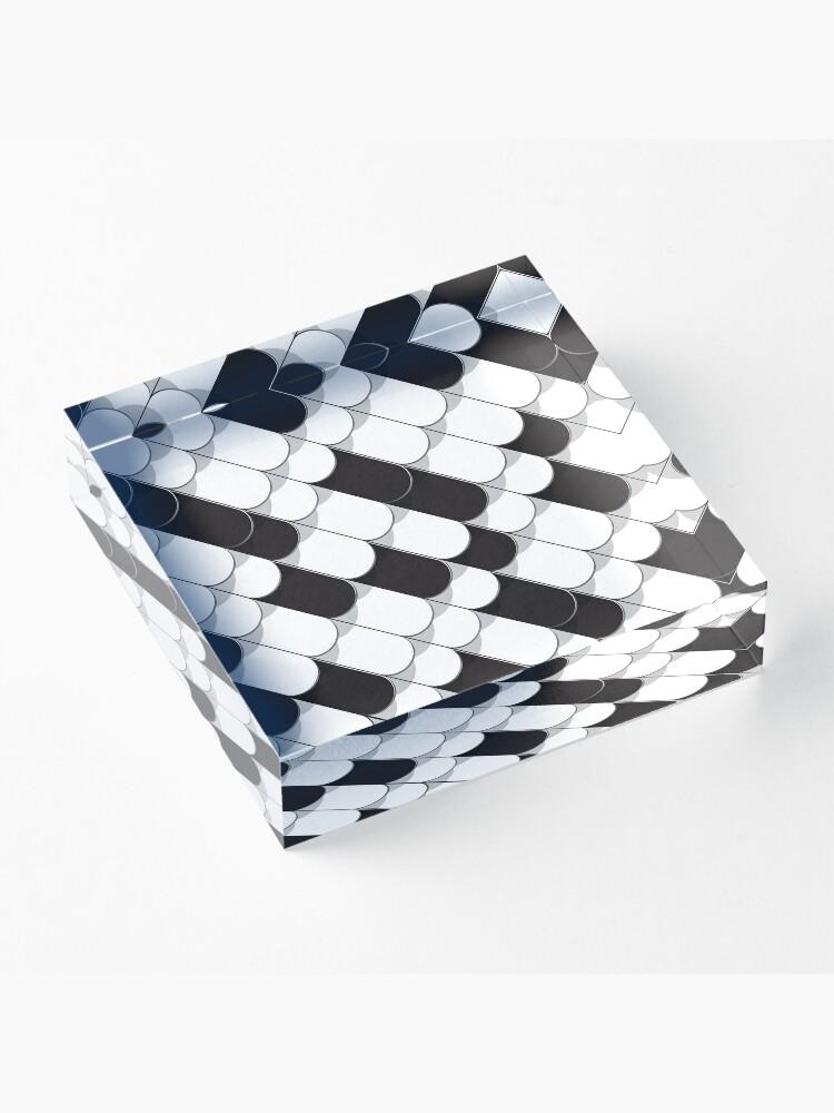 Alternative Ansicht von Abstrakter Aufbau (Fliesen) 5 Acrylblock