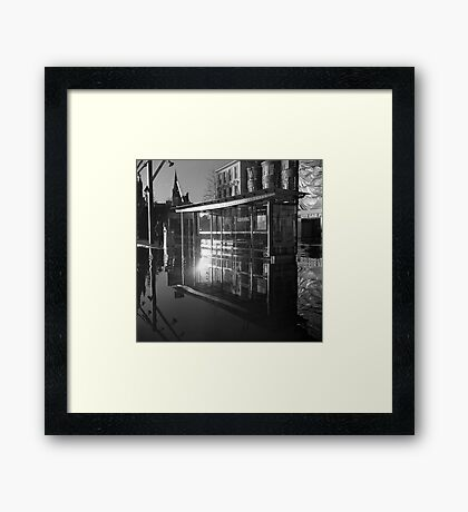 Waterbus Shelter Framed Print