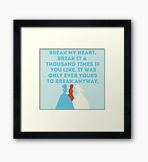 The Selection Framed Print