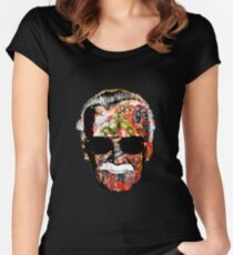 Stan Lee Collage Women's Fitted Scoop T-Shirt