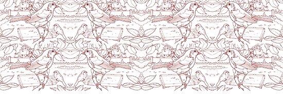 Robin Toile de Jouy inspiriert Rot von David Roland