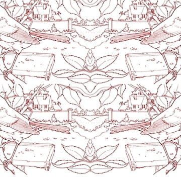 Robin Toile de Jouy Inspired Red by lewisroland