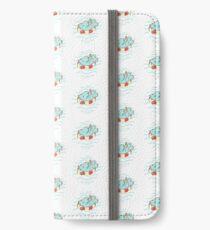 Nilpferd im Schwimmreif - Muster iPhone Flip-Case/Hülle/Klebefolie