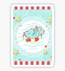 Nilpferd im Schwimmreif - Markise Sticker