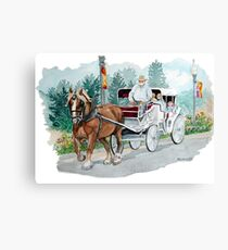Horse & Buggy Canvas Print