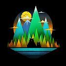 Geometric Landscape Bears by tobiasfonseca