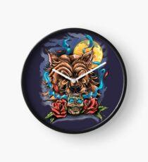 Lobo y calavera  Clock