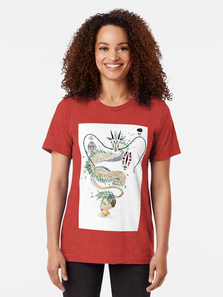 Alternate view of spirited away Tri-blend T-Shirt