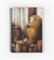 Brass Cash Register Spiral Notebook