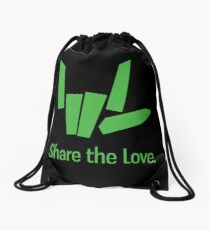 Share The Love Trending Apparel Drawstring Bag