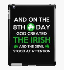 GOD CREATED THE IRISH iPad Case/Skin