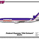 McDonnell Douglas MD-11F - Federal Express (Art Print) by TheArtofFlying