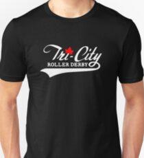 Tri City Roller Derby BlackBG Unisex T-Shirt