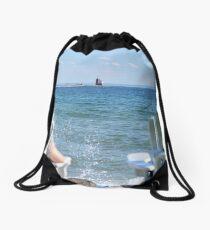 Lakeside Relaxation Drawstring Bag