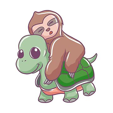 Sloth Riding Turtle by rkhy