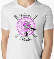 Vicious Dishes, Roller Derby, White Back Ground Men's V-Neck T-Shirt