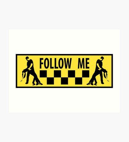follow me dancer Art Print