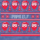 Papa Elf Christmas Sweater by CreatedTees