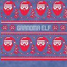 Grandma Elf Christmas Sweater by CreatedTees