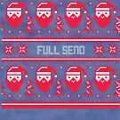 Full Send Christmas Sweater by CreatedTees