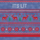 It's Lit Christmas Sweater by CreatedTees