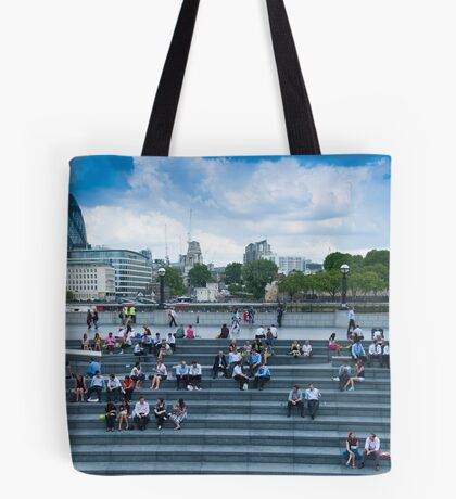 Lunchtime for City Hall Workers Tote Bag