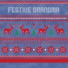 Festive Grandma Christmas Sweater by CreatedTees
