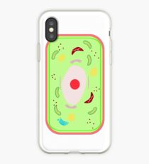 A plant cell with vacuole, Mitochondria, Golgi bodies,Lysosomes etc. in a cell of a leaf. iPhone Case
