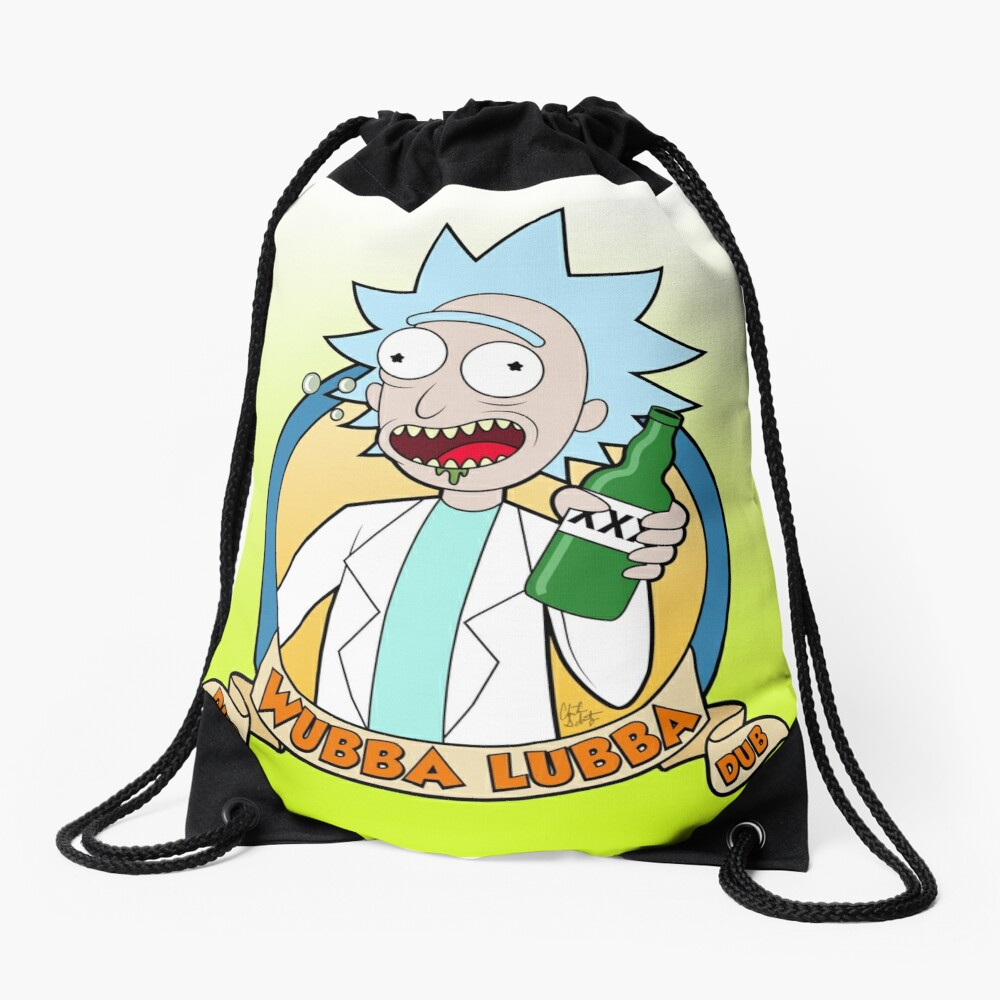 Wubba Lubba Dub Dub Drawstring Bag