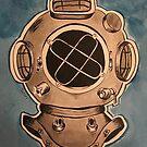 Diving Helmet Print by galacticdragon
