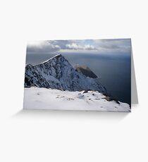 Snow on Achill Island Greeting Card