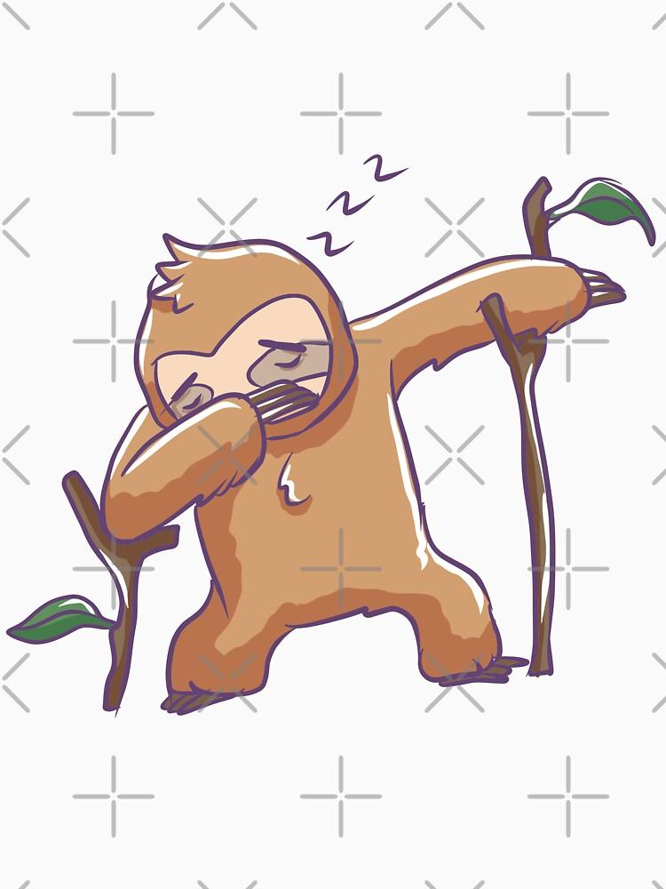 Funny Sleeping Dabbing Sloth by rkhy