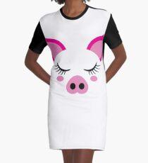 b931493ed660 Vestido camiseta Cara de cerdo linda Año nuevo chino del cerdo 2019